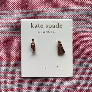 Kate Spade Gold Wedding Couple Earrings